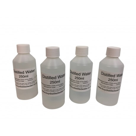 250ml Distilled Water - Priced individually