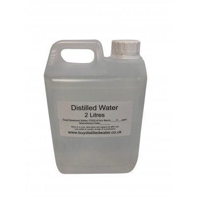 2 Litre Distilled Water