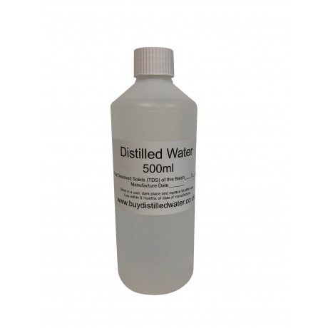 500ml Distilled Water