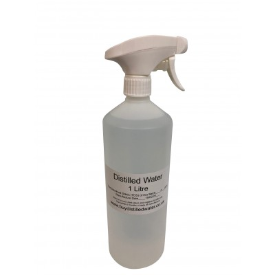 1 Litre Distilled Water with Trigger Spray