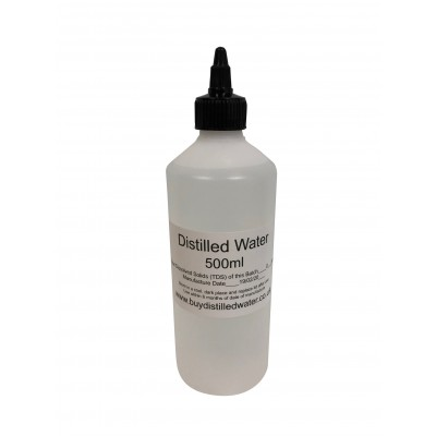 500ml Distilled Water with Twist Cap